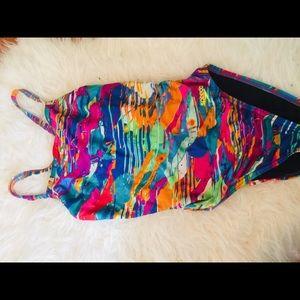 Speedo one piece bathing suit